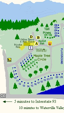 SiteMap1 Campsites & Map