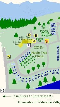 SiteMap1 Campsites & Map