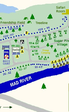 SiteMap2 Campsites & Map