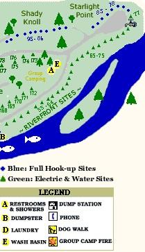 SiteMap3 Campsites & Map